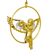 24 Kt Gold Plated Angel with Trumpet Studded with Swarovski Crystals