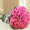 Bouquet of Fifty Pink Roses For Valentine Gift
