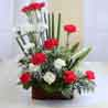 Arrangement of Twin Color Carnation For Valentine Gift