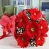 Bouquet of Red Gerberas in Tissue For Valentine
